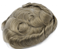 Image of An image of a Premium Quality 100% Indian Hair  Super Thin Skin 0.08mm Stock Hair System